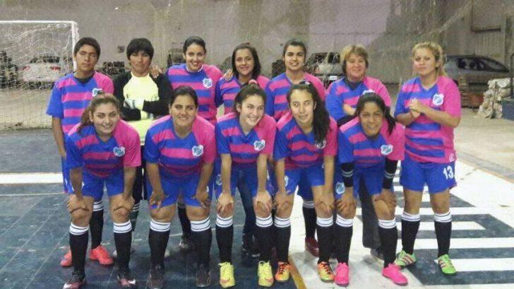 Formación del Deportivo La Paz que compite en el torneo de futsal femenino.